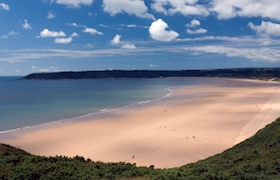 We are in the heart of the beautiful Gower